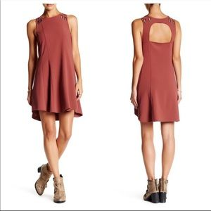 FREE PEOPLE Brownish Red Baby Love Trapeze Dress